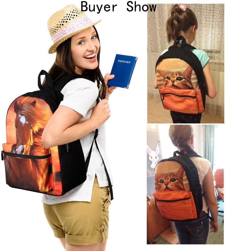 Delerain Cartoon Corgi Dog School Backpack Lightweight Travel Daypack Shoulder Bag 17 Inch Plus Laptop Bag Book bag for 1-6th Grade Boys Girls Back to School