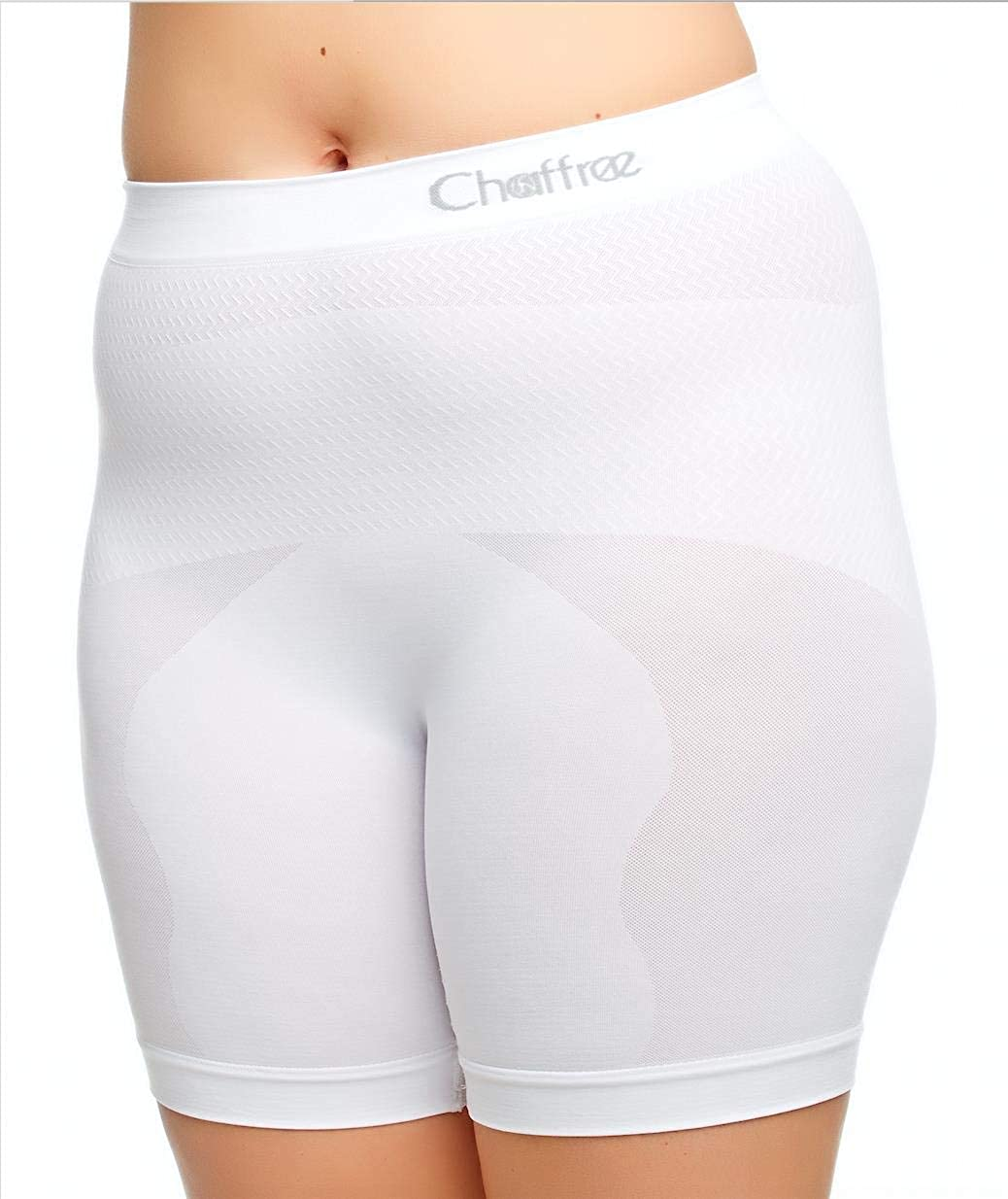 Chaffree Womens Anti Chafing Knickers, Plus Size Long Leg Briefs, Prevent Thigh Rubbing Underwear, Breathable Moisture Sweat Control Exercise Gym Brief, Stretchy Seamless Ladies Slipshort Panties, 1PK