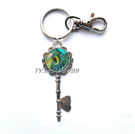 Amazon.com: Llavero con Fractal, Fractal llave anillo de ...