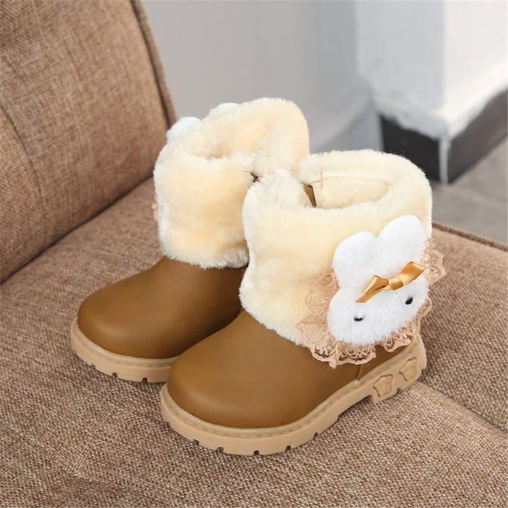 BeautyOriginal Girls Infant Toddler Winter Fur Shoes Warm Snow Boots