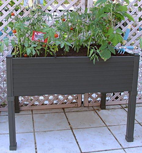 Huerto urbano GREENLAND de 90x60x75 cm. Para terraza/jardín ...
