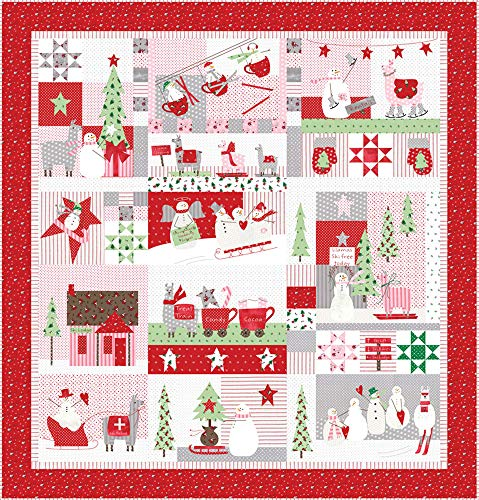 Bunny Hill Designs Merry Merry Snow Days Quilt Kit Moda Fabrics KIT2940 ()