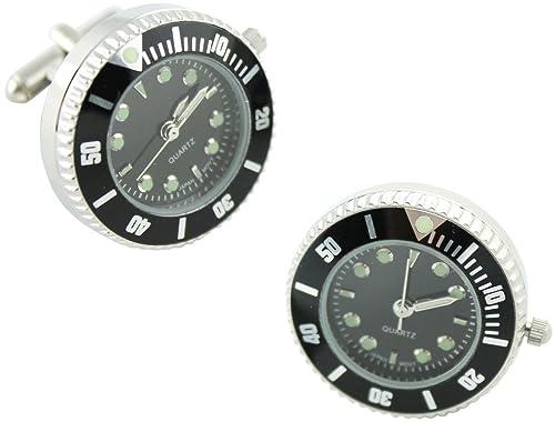 MasGemelos - Gemelos Reloj Rolex Negro Cufflinks