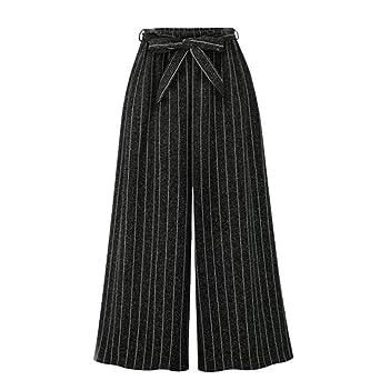 Luckycat Mujer Pantalones de harén Nueve Pantalones Anchos de ...