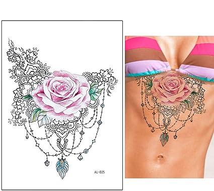 Tatuaje de rosas para festivales, tatuajes para el pecho, tatuajes ...