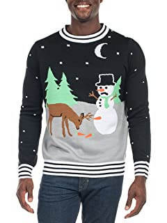 tipsy elves mens carrot trail nightmare christmas sweater funny snowman ugly christmas sweater - Amazon Christmas Sweater