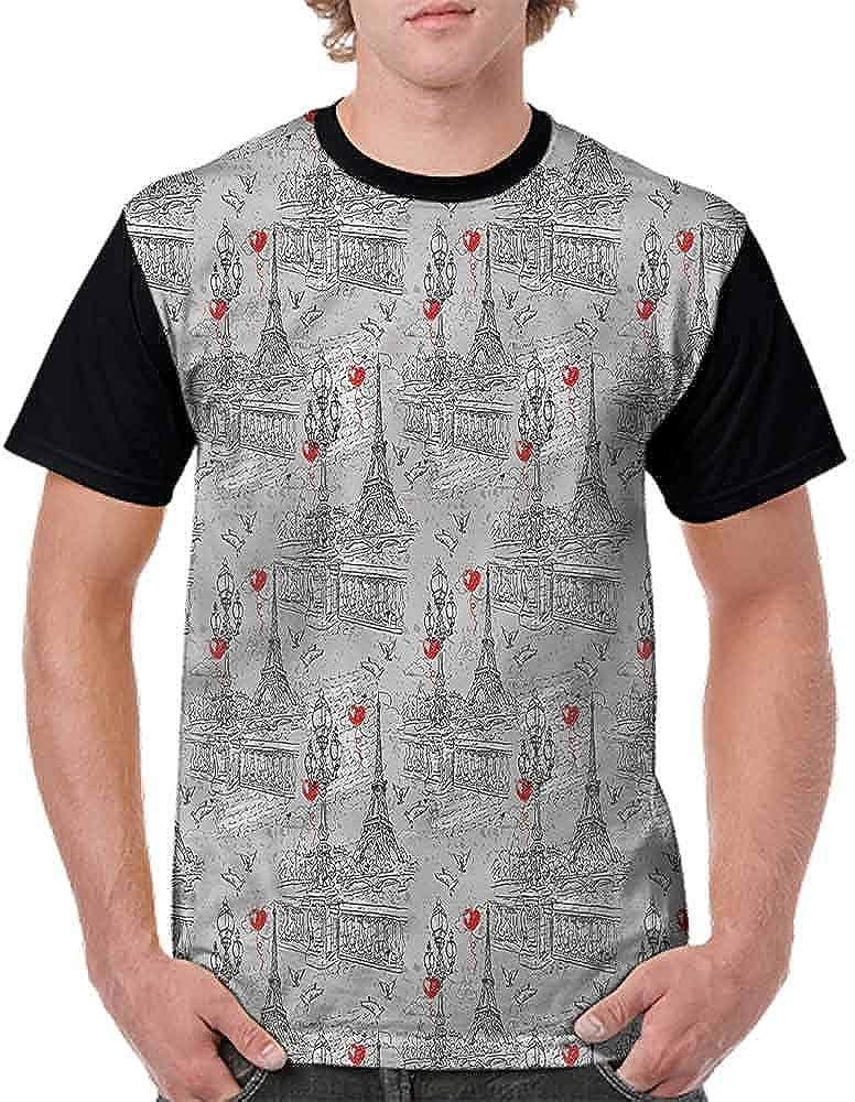 Teen t-Shirt,Retro Spring Je`Taime Fashion Personality Customization