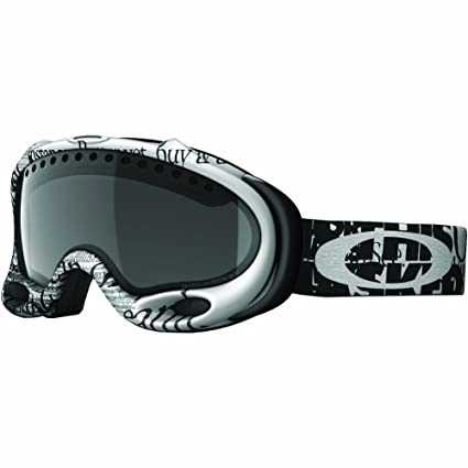 Amazon.com : Oakley A-Frame Snow Goggle, Tagline Black with Dark ...