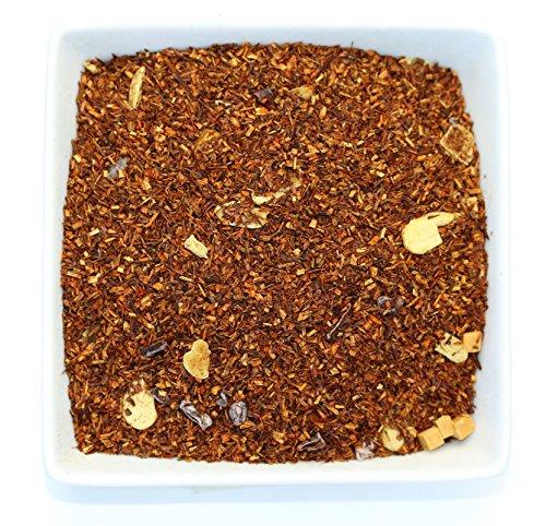 Tealyra - Rooibos Toffee Caramel - Red Bush Herbal Leaves Tea - Cocoa - Almond - Loose Leaf Tea - Caffeine Free - 112g - Almond Butter Homemade