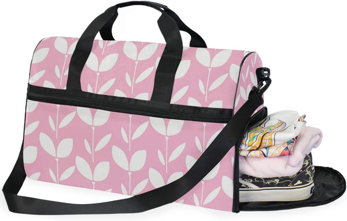 FAJRO Duffle Bag for Women Men Cute Grass Travel Duffel Bag Large Size Water-proof Tear Resistant