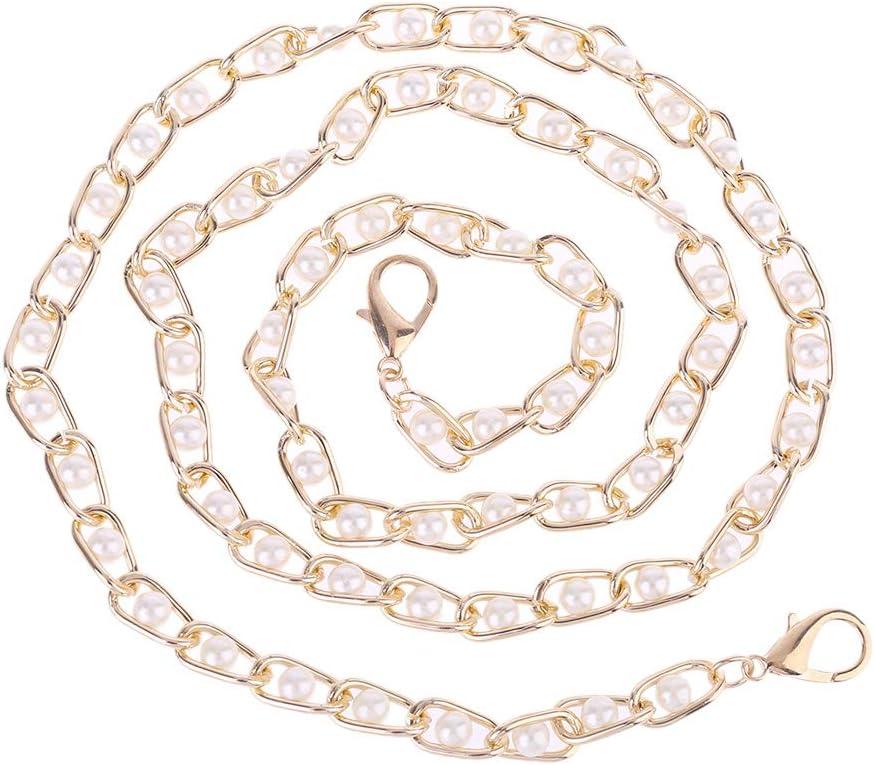 Perles en Plastique 122CM NO.1, 3 Yajiun Anse de Sac /à Main Cha/îne Aluminium