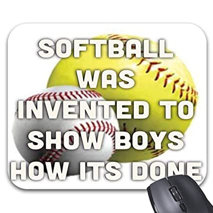 Softball Quotes | Amazon Com Softball Quotes Motivational Mouse Pad 11 8 X