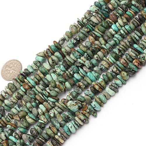 JOE FOREMAN 6x8mm Africa Turquoise Semi Precious Gemstone Freeform Loose Beads for Jewelry Making DIY Handmade Craft Supplies 15