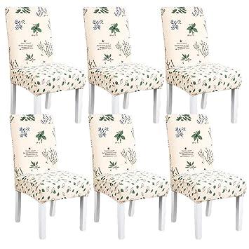 Funda para silla de comedor, diseño de página azul, estilo ...
