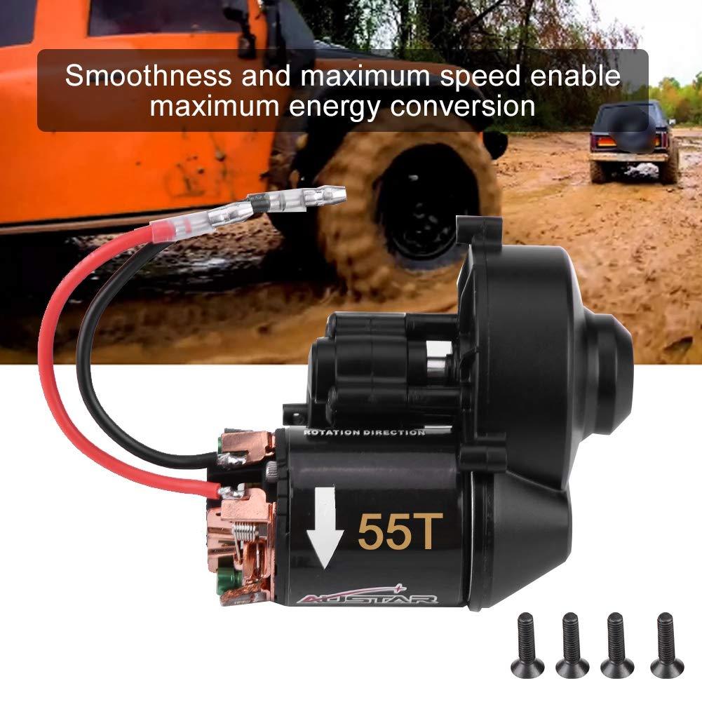 Dilwe Set Motore e Cambio Auto RC 540 Motore Spazzolato in plastica e Cambio Accessori per Veicoli Auto RC 55T