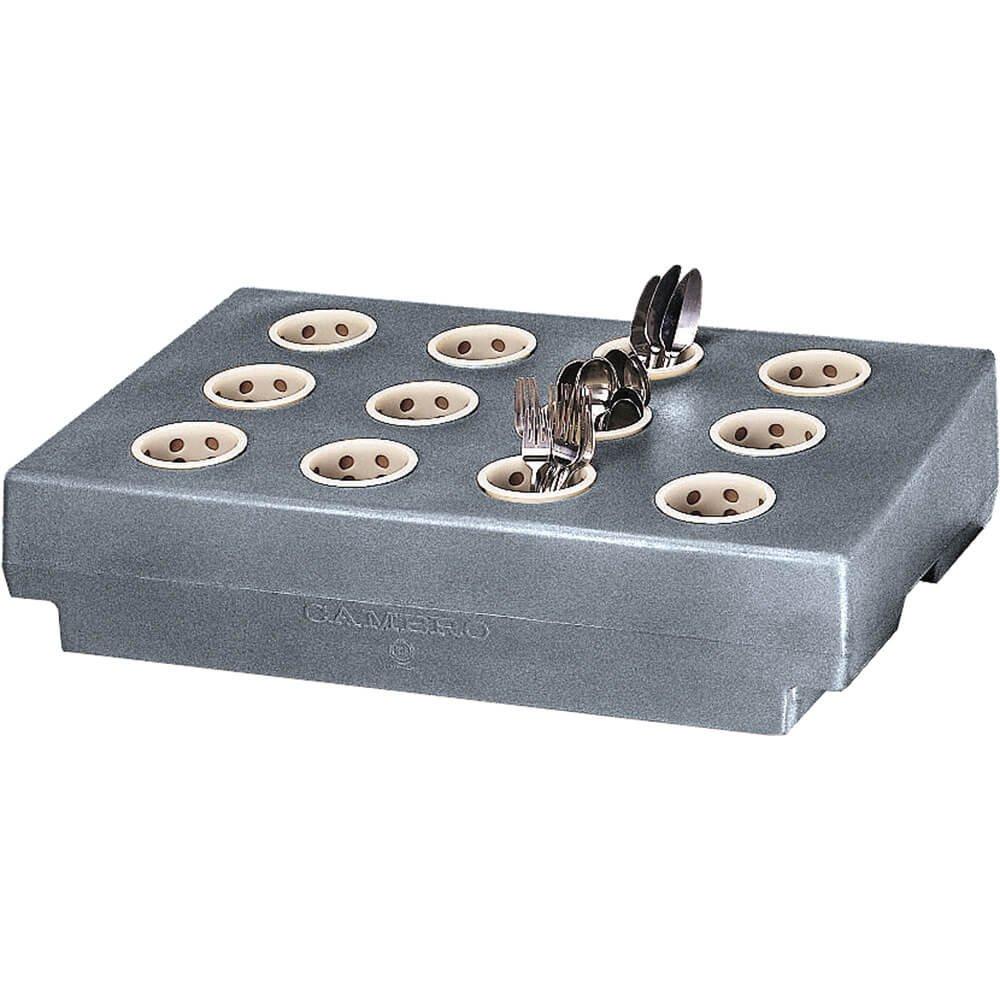 Cambro Cutlery Rack For TDC2029 Cart Granite Gray CR12-191