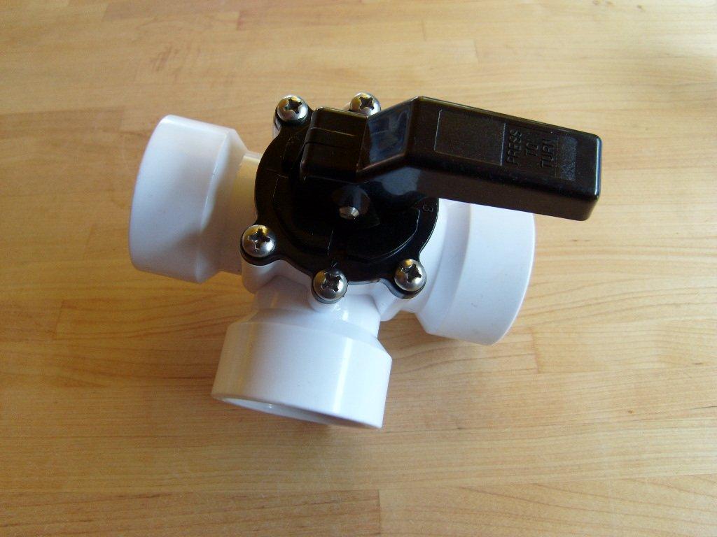 PVC de 3Vías de Solar Control deslizante, bypass para SOLAR de O Bomba de calor con rosca interior 11/2 Trendpool