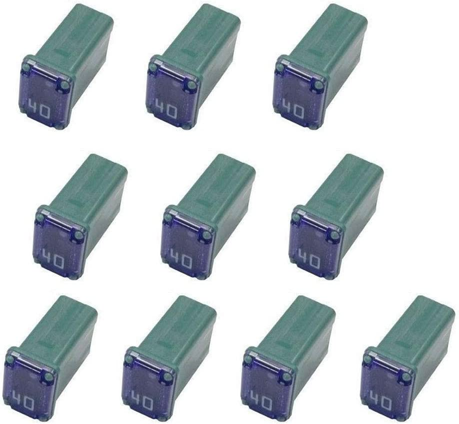 10 Pack 608840 40 Amp Micro Cartridge Fuses - Fmm Mcase Type Low-Profile Fuse