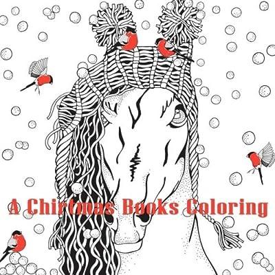 cc1553fb3bb22 Amazon.com: A Christmas Coloring Book: Merry Christmas Coloring Book Perfect  Gifts (9781981238552): Jane Boston, Adult Coloring Books: Books