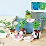 4Pcs Watering Animal Planter Self Watering Planter Drinking Animal Tongue Cute Style Ceramic Mini Backpack Plant Pot (4 pcs)
