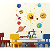 Wallstick 'Happy Planets' Wall Sticker (Vinyl, 49 cm x 4 cm x 4 cm)