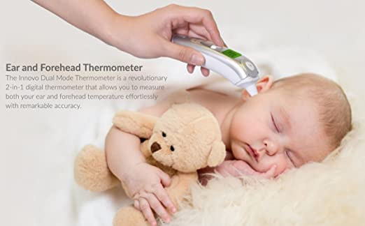 Innovo Forehead and Ear Thermometer (Dual Mode) by Innovo