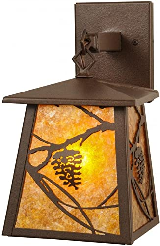 12 In Whispering Pines Lantern Wall Sconce