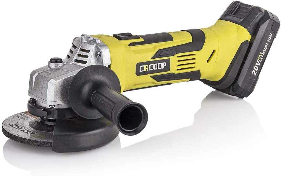 CACOOP 20V 5 Inch Cordless Angle Grinder, 8000RPM Power Cut-Off Angle Grinder with Lithium-ion Battery and Fast Charger