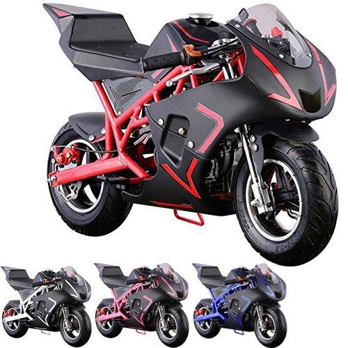 Four Stroke Motor - Pocket Bike Mini Motorcycle 4 Stroke Gas Power (RED)