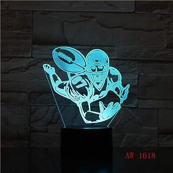 Luz de Noche de Rugby Visual para niños Toque lámpara de Mesa de ...