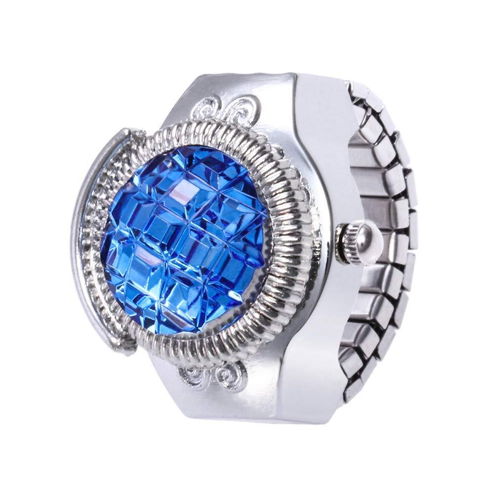 Women Quartz Watches,Fudule Rhinestone Wristwatch Finger Ring Watch Analog Watches for Women Fashion Ladies Dress Watch Clearance