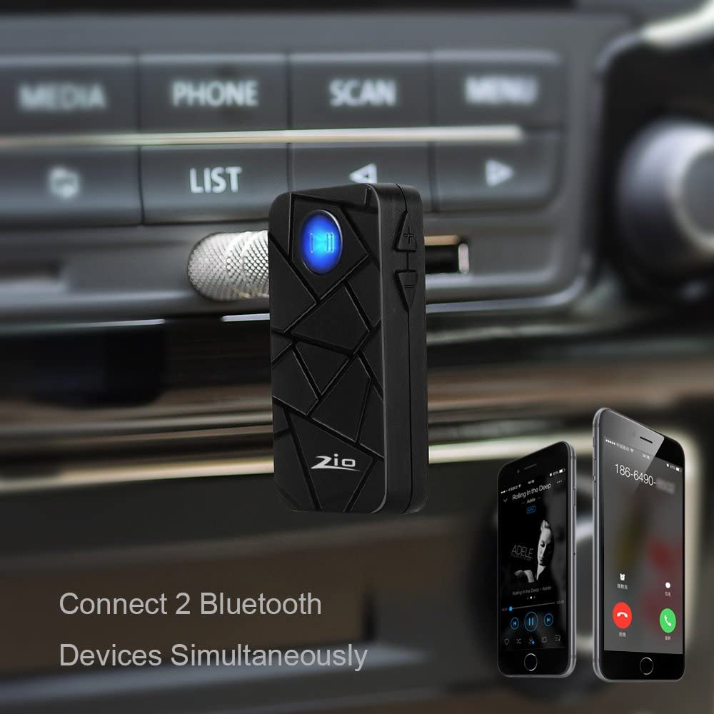 MP3 5 4S S4 Zio Mini Wireless Bluetooth 4.1 Stereo Audio Music Receiver with Adapter and Audio Cable for iPhone 6 Audio Devices Note 3 iPad 5C 5S S3 Samsung Galaxy S5 LG G2 6 Plus iPod