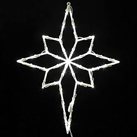 Star Of Bethlehem Outdoor Light Amazon vickerman lighted led star of bethlehem christmas window vickerman lighted led star of bethlehem christmas window silhouette decoration 18quot workwithnaturefo