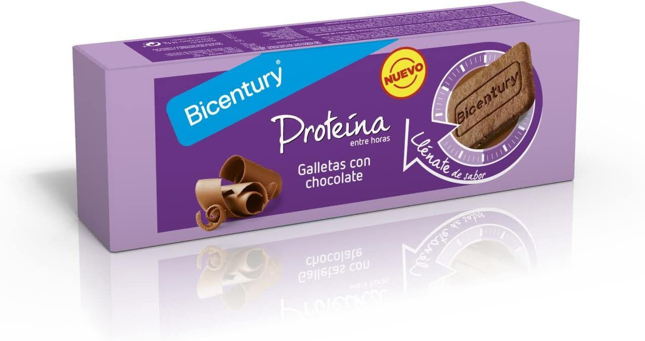 BICENTURY galletas proteínas con chocolate paquete 144 gr ...