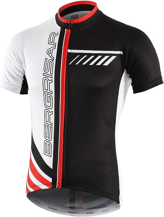 Camiseta de ciclismo Bergrisar de manga corta para hombre: Amazon ...