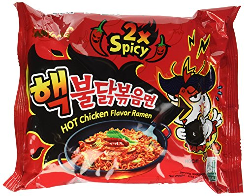 (Samyang Hek Buldak Extra Spicy Roasted Chicken Ramen Nuclear Edition 10 Pack)