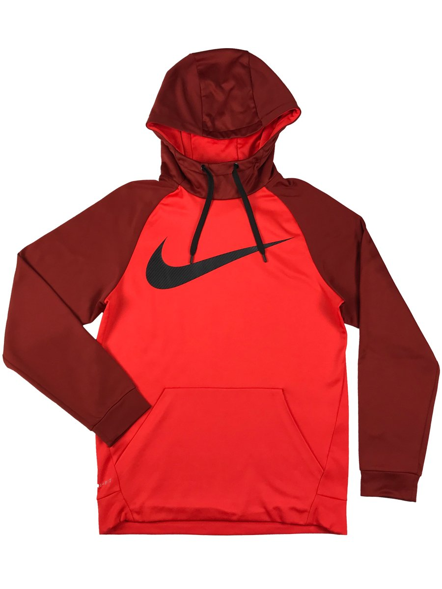 NIKE Mens Dri-Fit Therma-Fit Big Swoosh Pull Over Hoodie Sweatshirt 933432 852 (m)