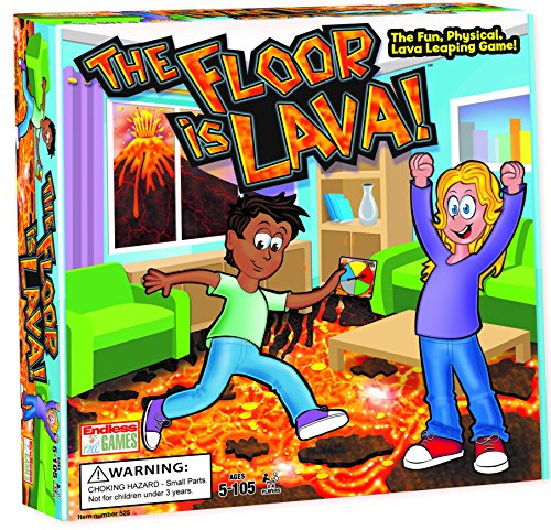 The Floor is Lava! Interactive Board Game for Kids and Adults (Ages 5+) Fun Party, Birthday, and Family Play | Promotes Physical Activity | Indoor and Outdoor Safe for $<!--$19.95-->