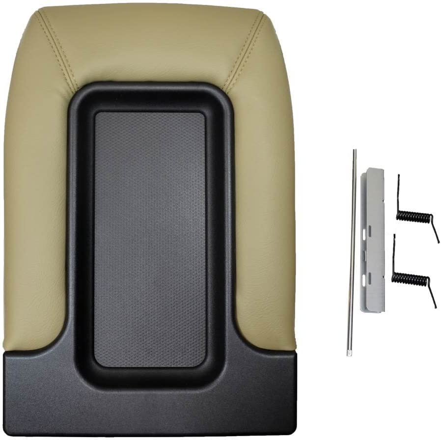 PT Auto Warehouse GM-9523G Light Gray Front Row Seat Separator Center Console Lid