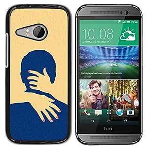 Exotic-Star ( Yellow Love Minimalist Clean ) Fundas Cover Cubre Hard Case Cover para HTC ONE MINI 2 / M8 MINI