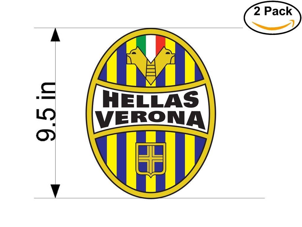Hellas Verona 1903 FC Italy Soccer Football Club FC 2 Stickers Car Bumper Window Sticker Decal Huge 9.5 inches