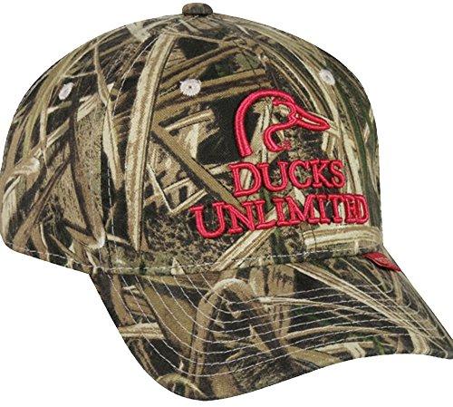 [Mossy Oakladies Ducks Unlimited Logo Camo Cap, Mossy Oak Shadow Grass Blades Camo, Adjustable Closure] (Mossy Oak Shadow Grass Hat)