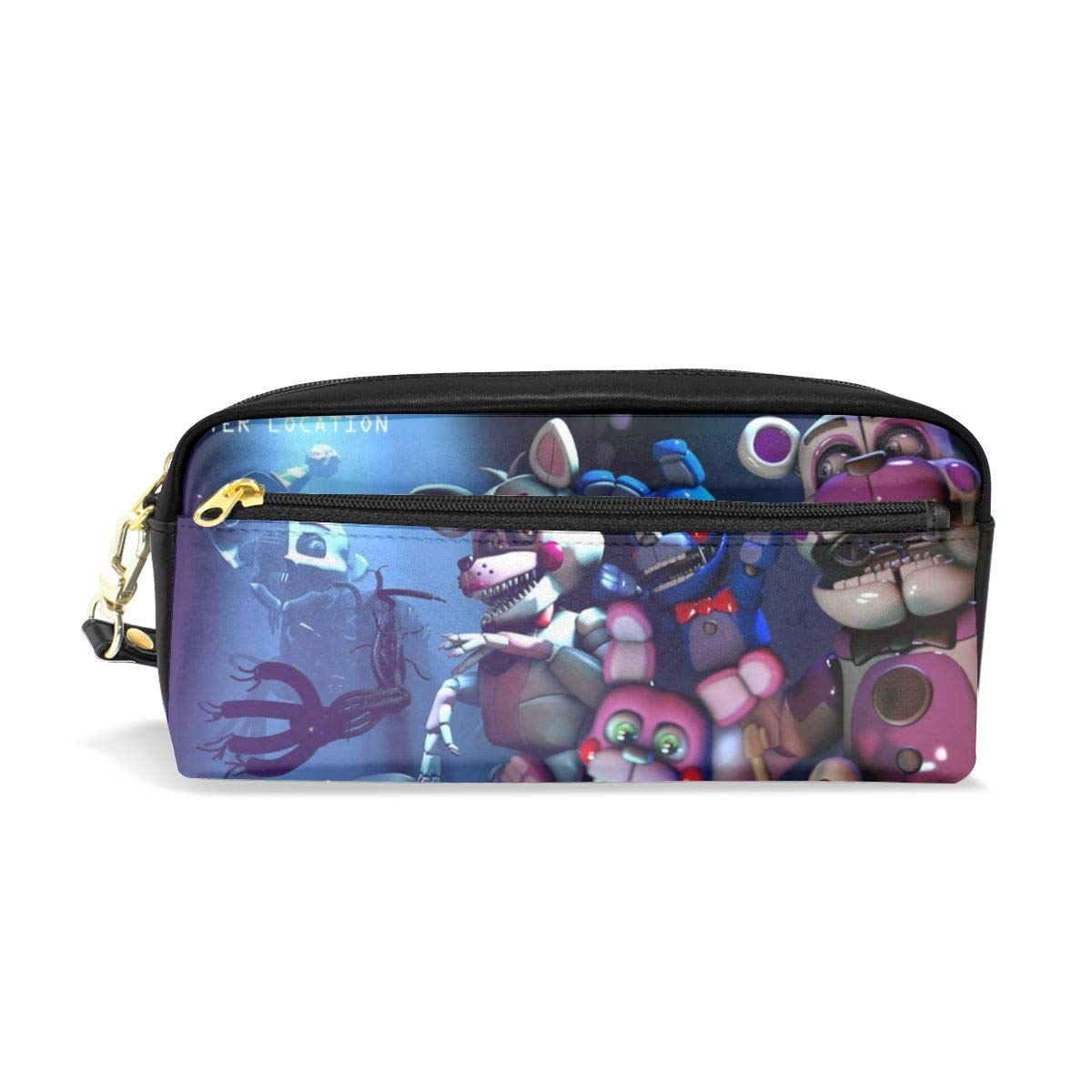 FANGHUABATHRHSQ FNAF_Sister Unisex Student Pencil Case Pen Box Stationery Bag Lightweight Pouch Makeup Cosmetic Bags with Double Zippered for Girl Boy