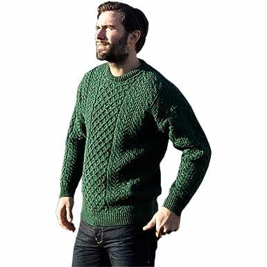 Carraig Donn Mens Irish Wool Sweater 100 Irish Wool Made In