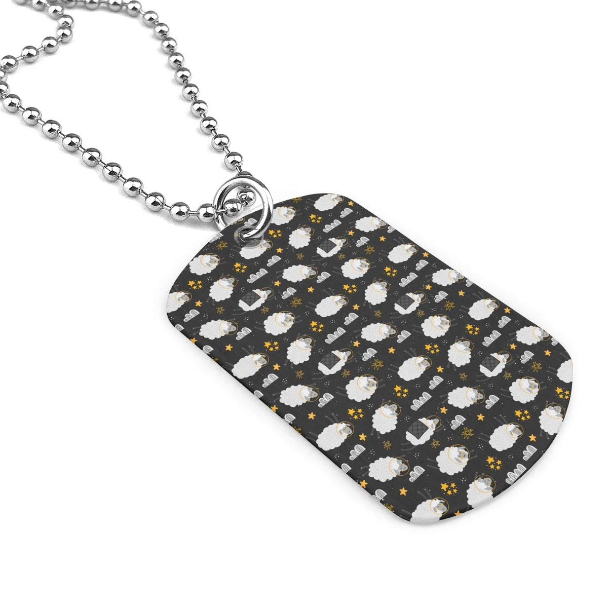 Military Necklace Heeps In The Space Custom Zinc Alloy Pendant Necklace Dog Tags
