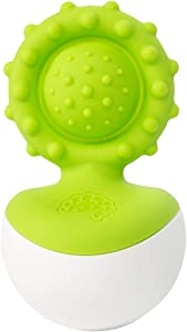 Fat Brain Toys Dimpl Wobbl Green Teether (1)