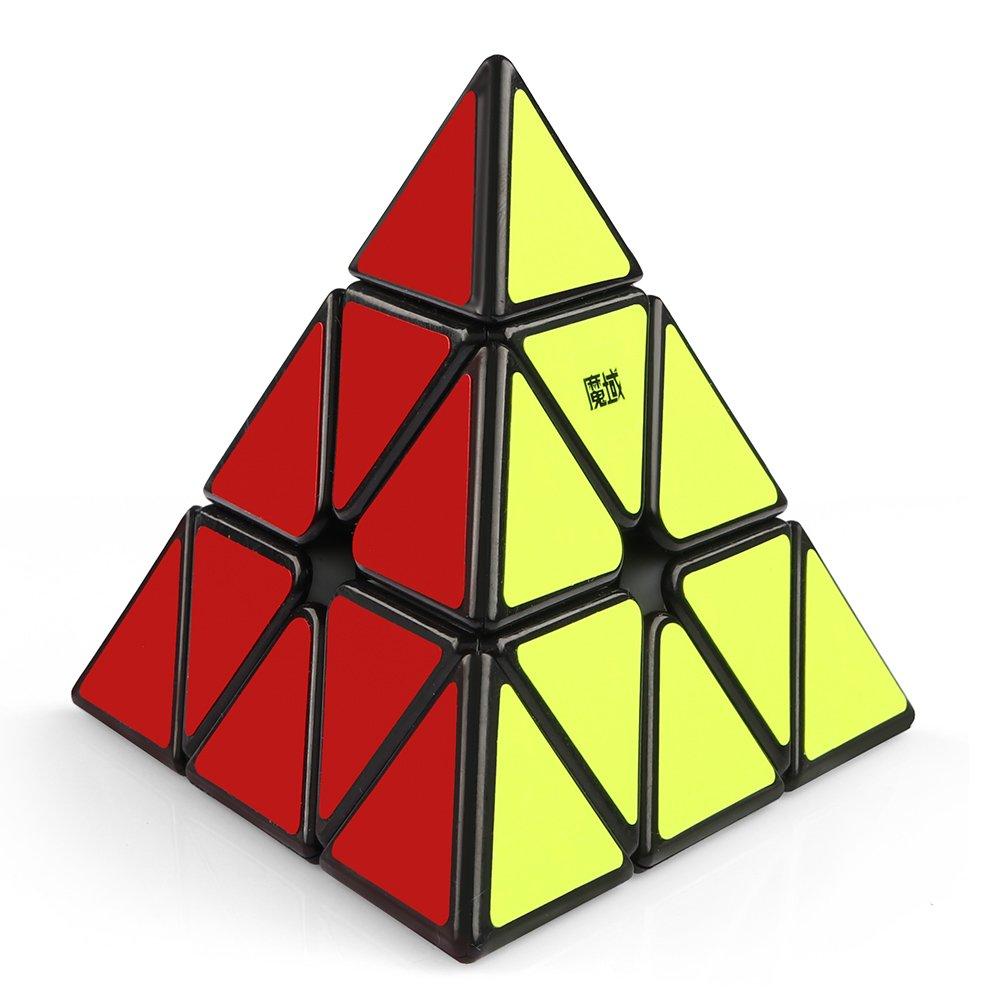 Coogam Moyu Magnetic Pyramid Speed Cube Pyramid Puzzle Toy (Black)
