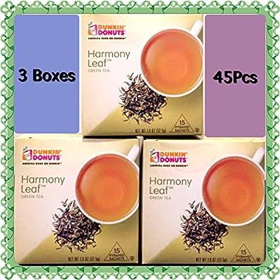 Dunkin Donuts Harmony Leaf Green Tea 45 Tea Bags