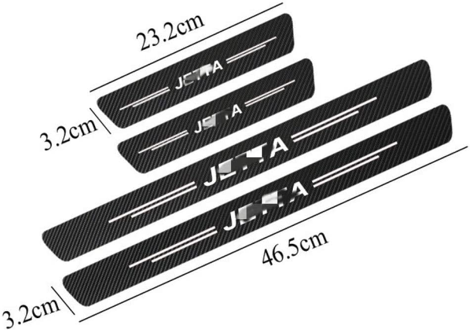 GLEETIEZ 4Pcs Car Door Threshold Plate Decoration Trim Door Sill Protect Sticker Scuff Stickers,for VW Jetta MK3 MK4 MK5 MK6 MK7