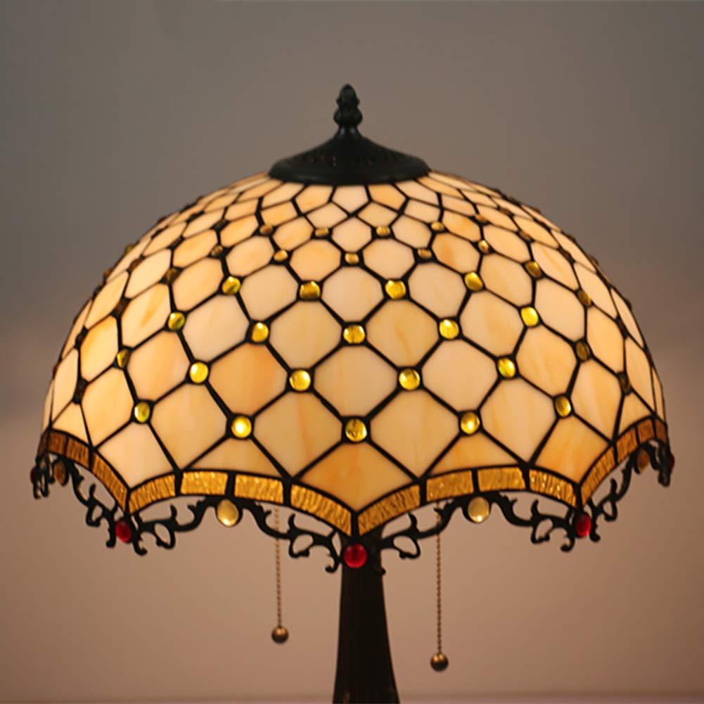 Amazon.com: Lámpara de mesa de estilo Tiffany grande, con ...